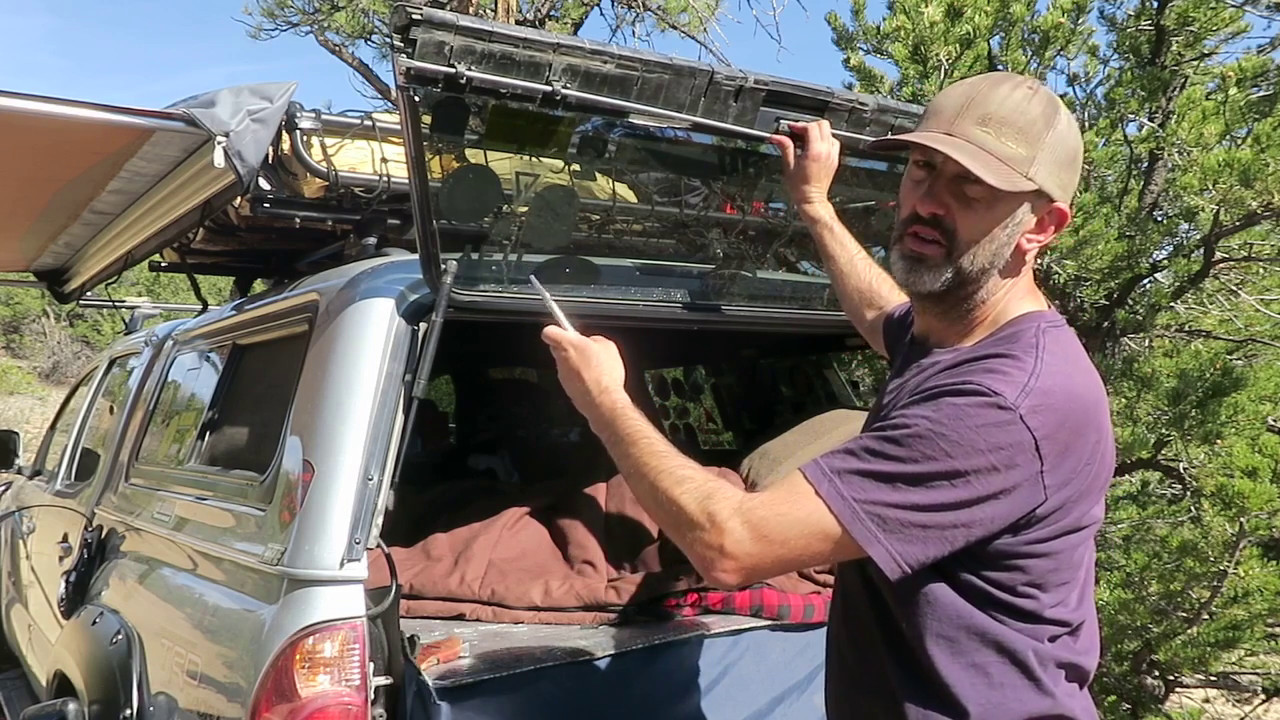 Truck Camping Locking Your Topper From The Inside Youtube