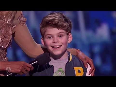Merrick Hanna AGT semi final Robotic Performance and Judges Comments America's Got Talent 2017
