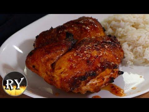 Honey Lemon Garlic Chicken Grilled Using The Kettle Zone System