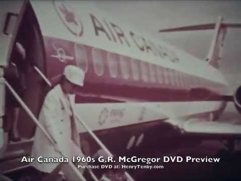 AirCanada 1960s G.R. McGregor DVD Preview Vanguard DC-8 DC-9