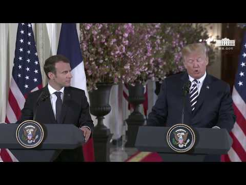 Trump News Conference With French President Macron