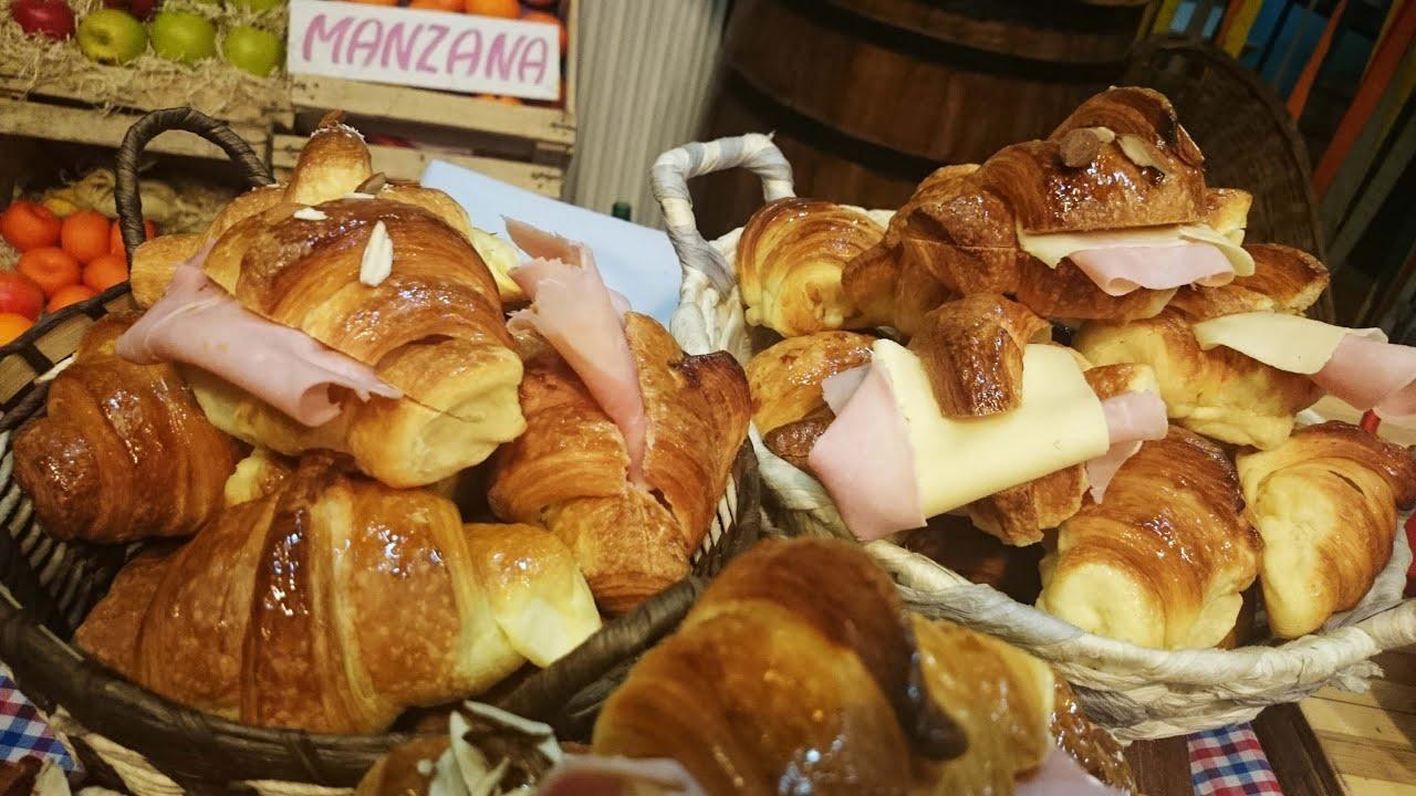 Croissants rellenas de jamón y queso