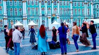 Ирландские танцы на Дворцовой Площади Санкт-Петербурга(Любители ирландских танцев вечером субботы собираются около Александрийского столпа на Дворцовой площади..., 2016-06-05T08:17:09.000Z)