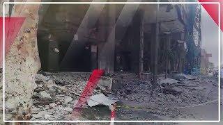 شاهد.. أثار حادث انفجار 3 سيارات أمام المعهد القومى للأورام (فيديو)