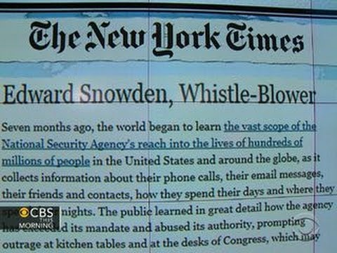 Headlines: New York Times editorial defends Snowden