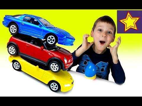 Видео: Welly машинки в яйцах сюрпризах Играем в Велли Машинки Kids welly surprise unboxing