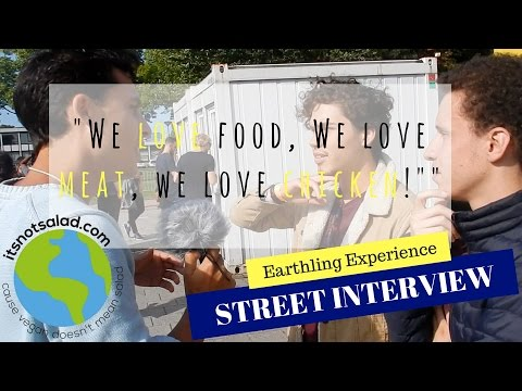 Earthling Experience Amsterdam - Vegan Activism - We Love Food. We love Meat! We love Chicken