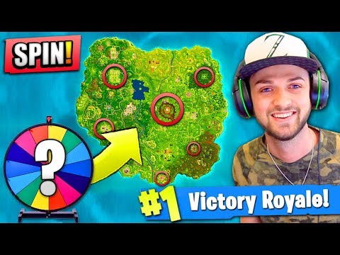 WHEEL CHOOSES my DROP in Fortnite: Battle Royale!
