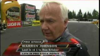 Ron Kirsher Warren Johnsons Temper Flares Up Safety Pro Stock Round 1 Eliminations Northwest  Nationals Seattle 2010