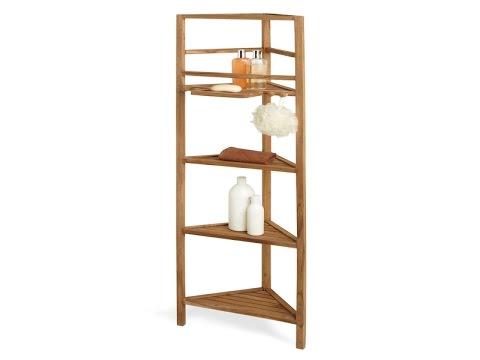 teak shower corner shelf