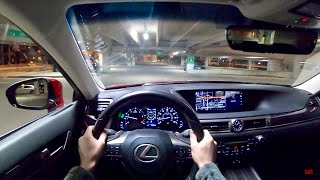 2018 Lexus GS 350 AWD - POV Night Drive (Binaural Audio)