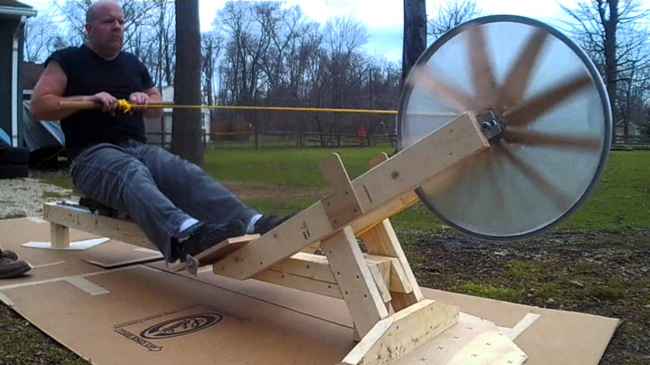 Home built rowing machine