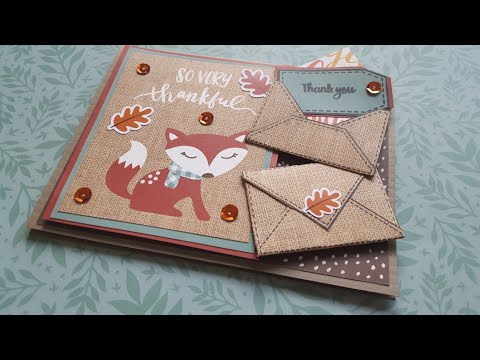World Card Making Day - Mission InCARDible Blog Hop - Thank You Card
