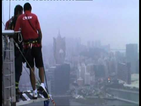 World's Highest Bungy Jump 223m Macau Tower.