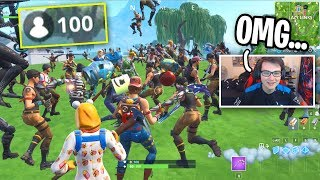 I Got 100 People To Stay Alive The WHOLE GAME in Fortnite... (Custom Matchmaking)
