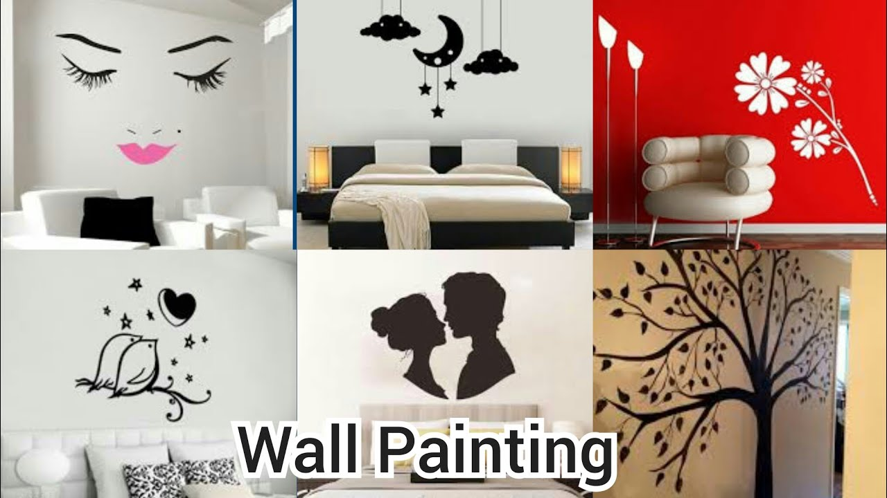 Wallpainting Wallpaint2020 Wall Painting At Home Diy Ideas Girls Room Youtube