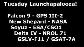 Scrubapalooza - 5 Rocket Launches Scheduled - 4 Already Scrubbed!