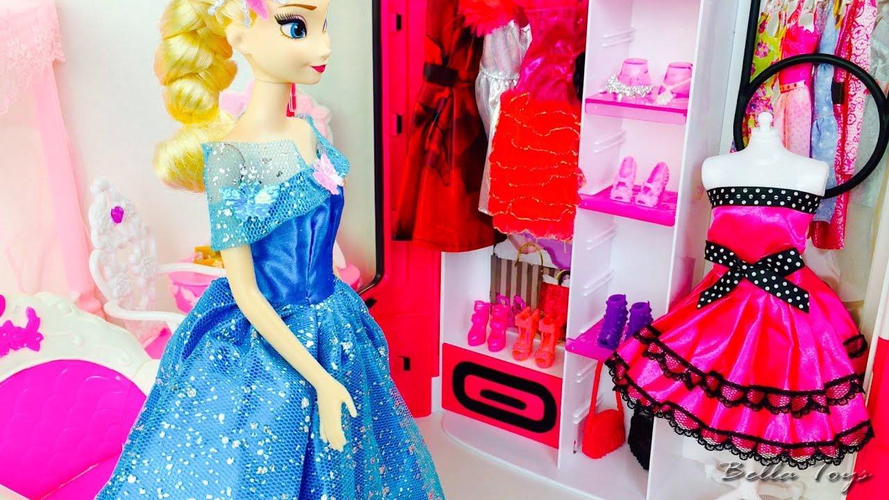dormitorio de de elsa frozen princesa disney mueca barbie