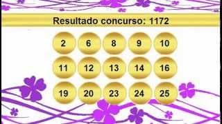 sorteio resultado lotofacil 1172 Palpite 1173