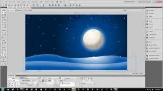Adobe Fireworks CS5 Tutorial on How To Make Christmas 3D Vector Scene Part 1