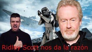 Ridley Scott desenmascara a los críticos de cine.