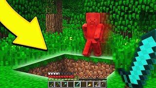 TROLLING RED STEVE IN MINECRAFT!