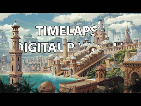 Timelapse Digital Painting – Syphon | enviro landscape concept art illustration speedpainting