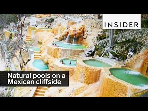 Cliffside pools in Mexico
