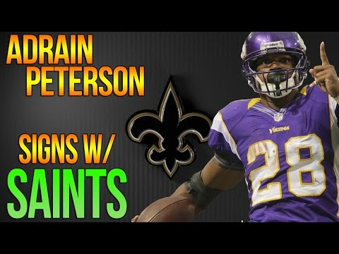 ADRIAN PETERSON SIGNS WITH THE SAINTS - BEST RB CORPS IN NFL?