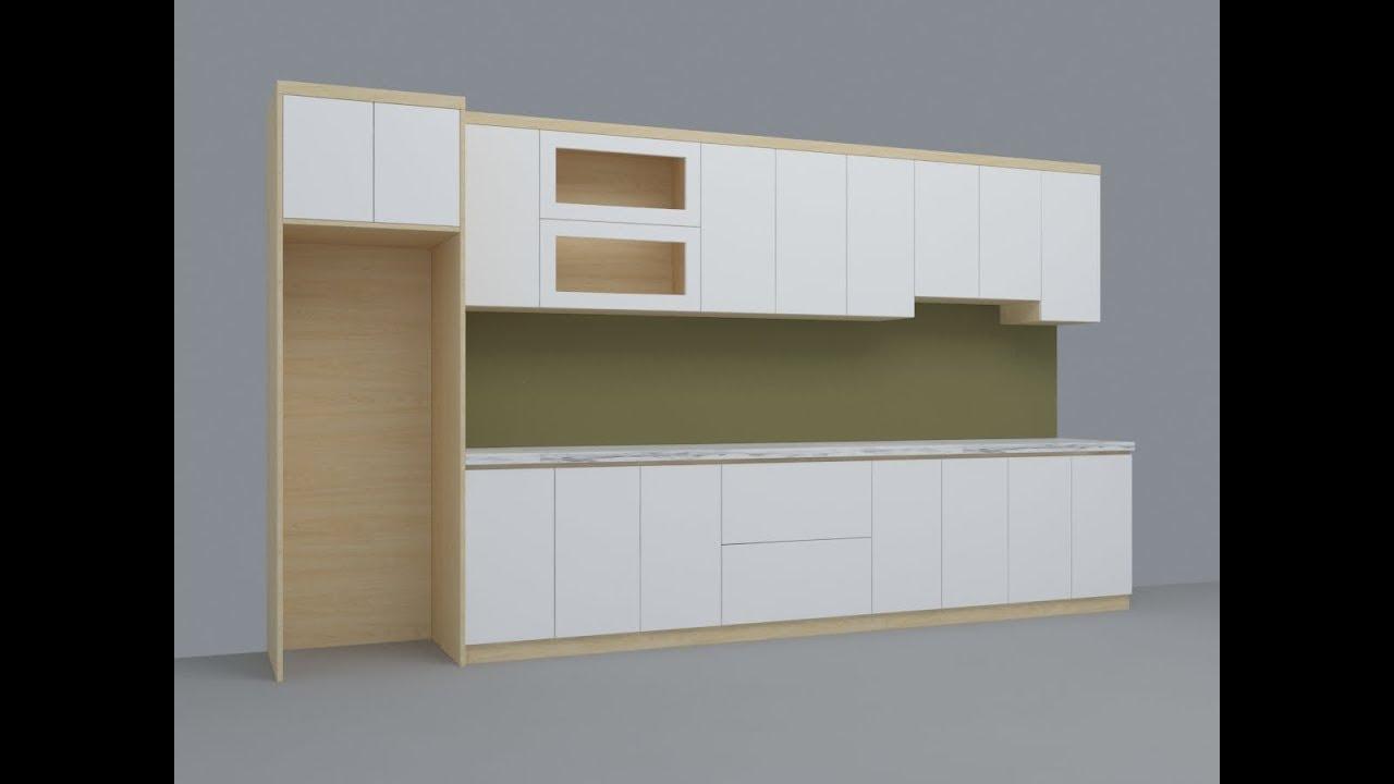 Hướng dẫn vẽ cad tủ bếp, dựng max tủ bếp đơn giản