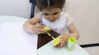 Рисование для детей ♥Штампы из картошки♥ Нетрадиционное рисование для детей