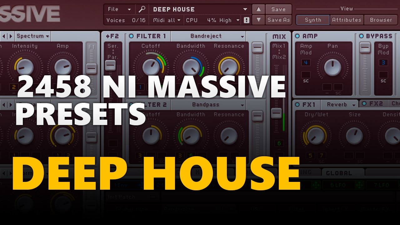 2458 Ni Massive Deep House Presets - Mega Pack (Free Download)