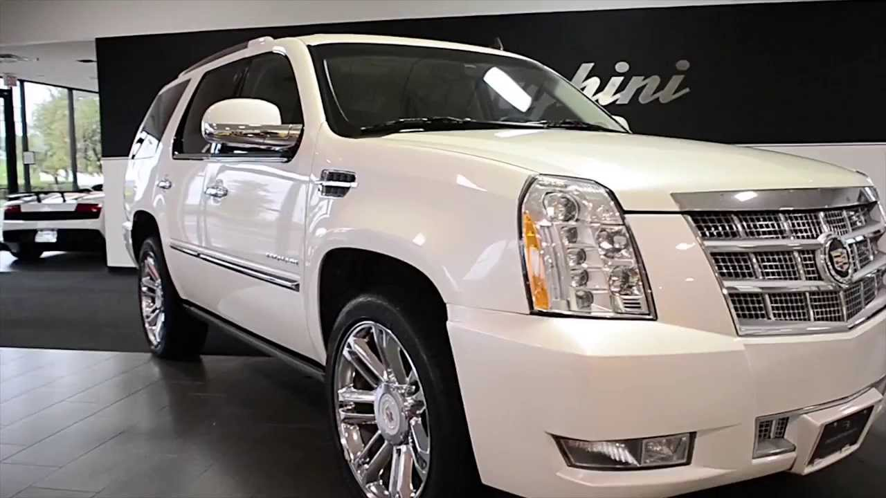 2012 Cadillac Escalade Platinum For Sale >> 2013 Cadillac Escalade Platinum edition White Diamond LT0572 - YouTube