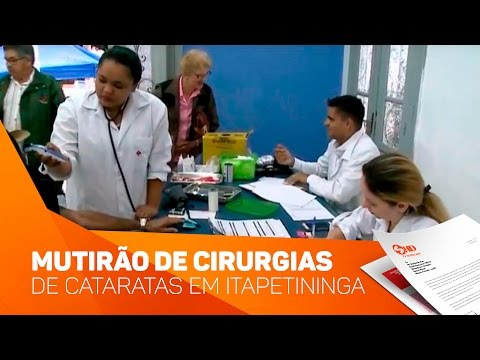 Mutirão de cirurgias de cataratas em Itapetininga - TV SOROCABA/SBT