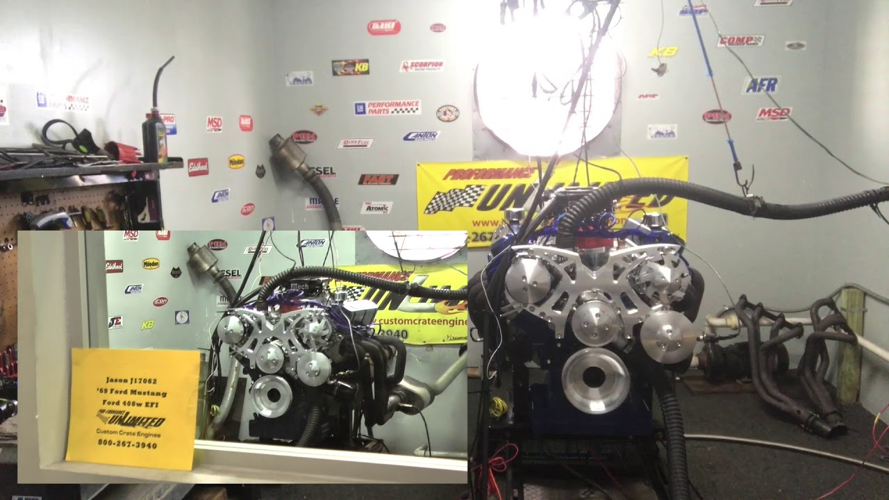SBF 408CI 351W Based Stroker Crate Engine With FiTech EFI