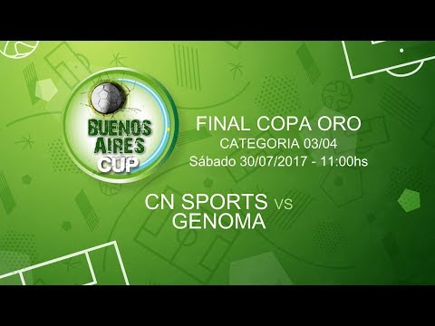 Buenos Aires Cup EN VIVO - CN SPORTS vs GENOMA - CAT. 03-04 - FINAL COPA ORO