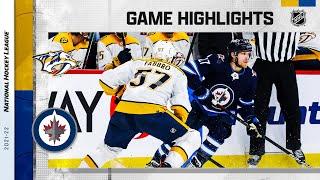 Predators @ Jets 10/23/21 | NHL Highlights