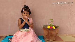 #Bhagavad Gita #shloka 1.1 #baby Dhanishka #Inspired by #baal Gopal