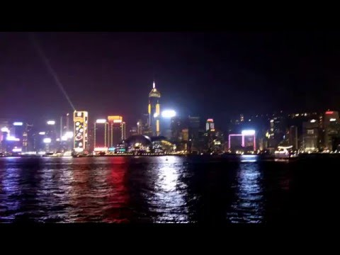 A symphony of light show, Hong Kong