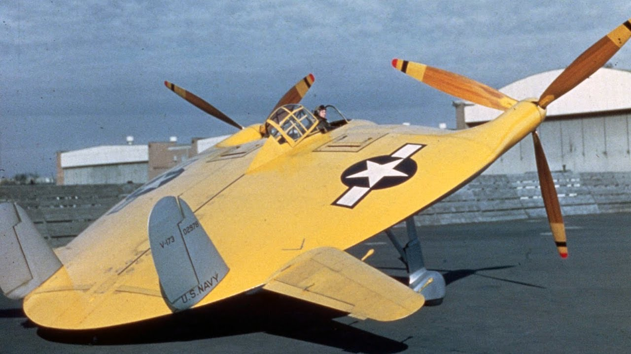 The Experimental All-Wing Carrier Fighter - Vought V-173