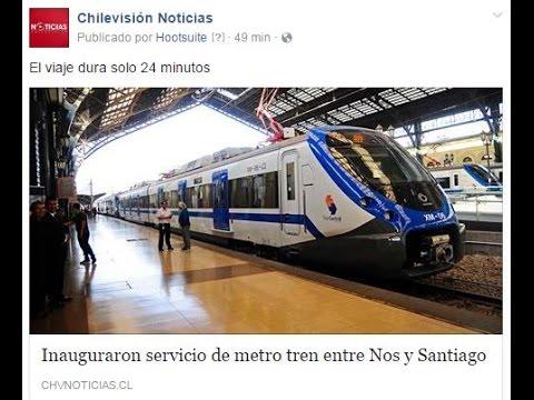 Inauguraron servicio de metro tren entre Nos y Santiago - CHV NOTICIAS