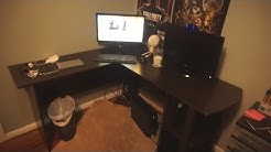 Setting Up My L shaped Corner Desk!