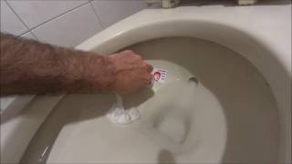 Trump Toilet stickers - how to apply, and aim