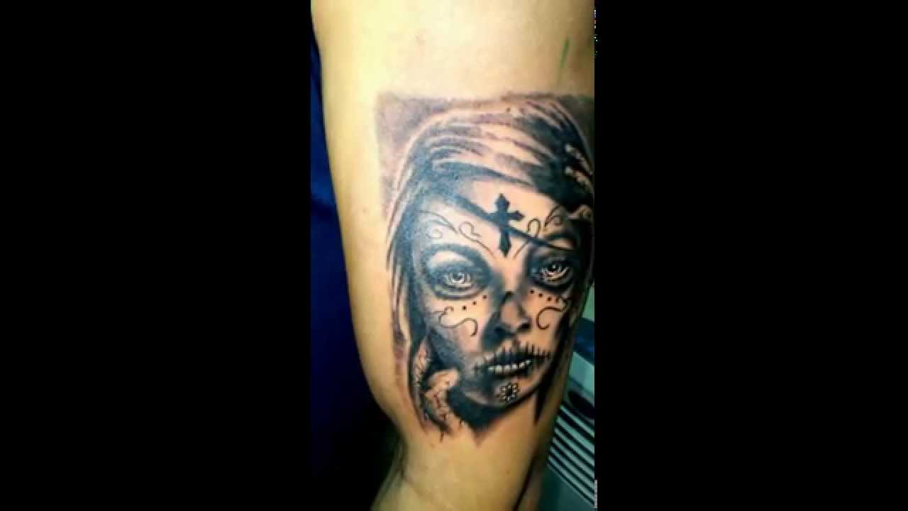 Tatuaje Catrina En El Brazo Youtube