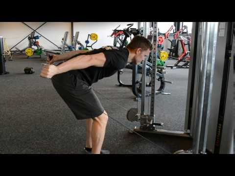 Triceps double cable kick back
