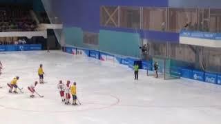 Пенальти bandy финал Россия : Швеция