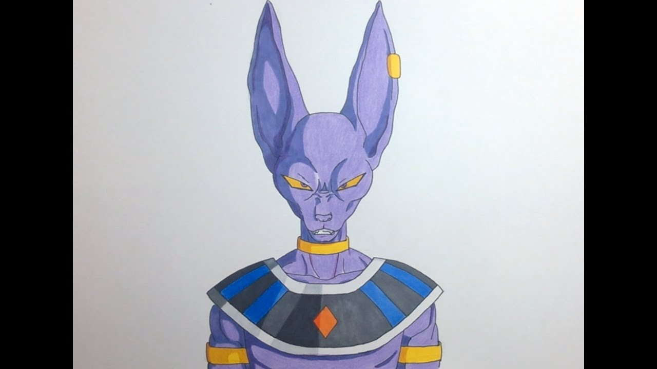 Drawing Beerus Bills ビルス Dragon Ball Super Youtube