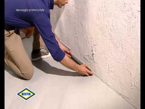 Bostik come fissare uno zoccolino ad un muro con poly max
