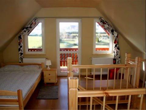 domki drewniane aran- wnętrza - YouTube