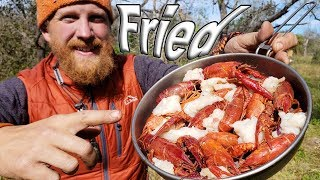 Deep Fried Crawfish In Raccoon Fat - Day 14 of 30 Day Survival Challenge Texas